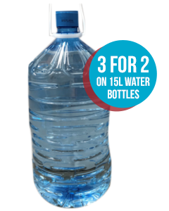 3 for 2! - 15L Filled Bottles of Water