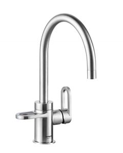 HotSpot Titanium Alessio 3-in-1 Hot and Cold Tap - Stainless Steel Look + Filter