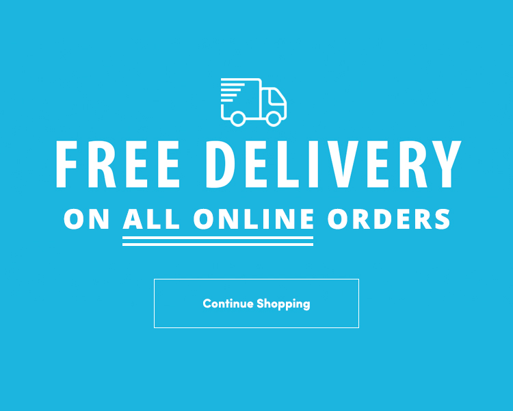 FREE delivery on all online orders.