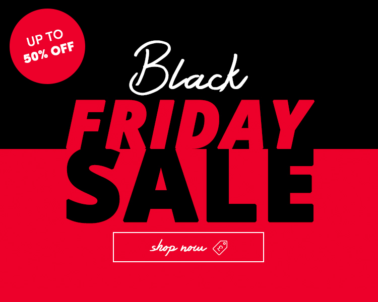 Black Friday sale, up to 50% off!