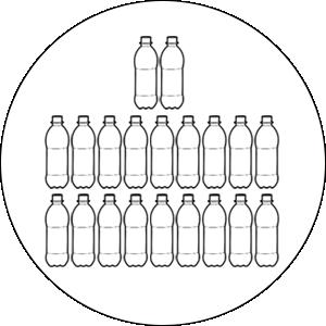21 bottles saved per second