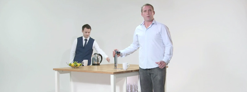 Phil Vickery with hot water tap