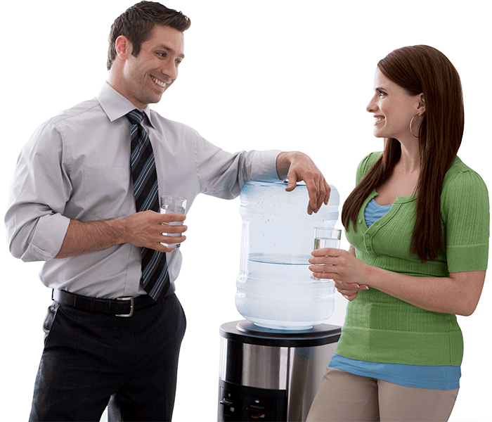 Talking over a water cooler